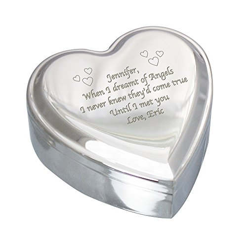 Best engraved heart jewelry box for 2019