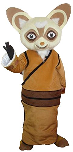 Master Shifu Raccoon Of Kung Fu Panda Adult Mascot Costume Fancy Dress Outfit]()