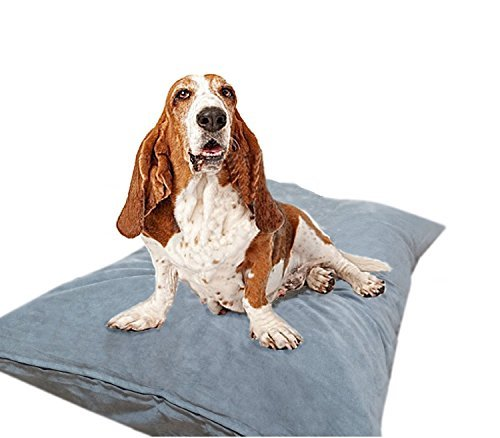 """Do It Yourself DIY Pet Bed Pillow Duvet Suede Cover + Waterproof Internal case for Dog/Cat at Medium 36""""X29"""" Gray Color - Covers only from Dogbed4less"""