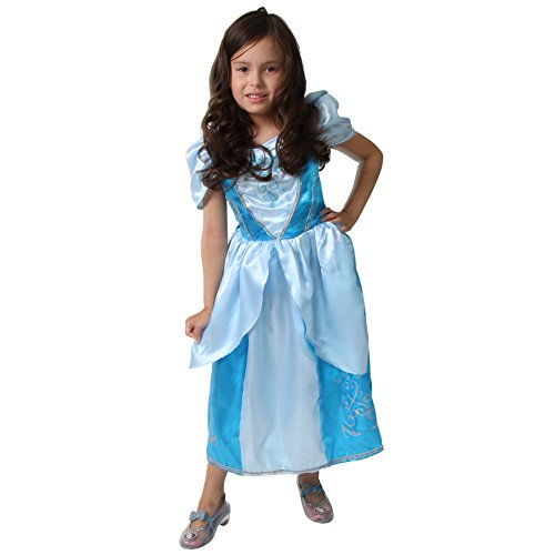 [Girls Cinderella Blue Princess Sparkle Dress Size 4/6 by Storybook Wishes] (Cinderella Dress Up)