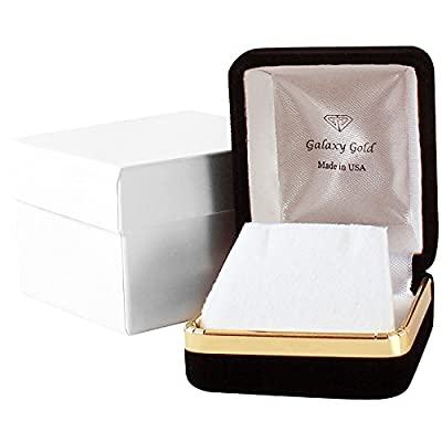 Galaxy Gold 14k Rose Gold Natural Emerald Ring from Galaxy Gold Products Inc.
