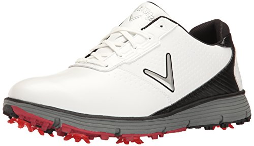 Callaway Men's Balboa TRX Golf Shoe, White/Black, 10 2E (Leather Mens Golf Shoe)