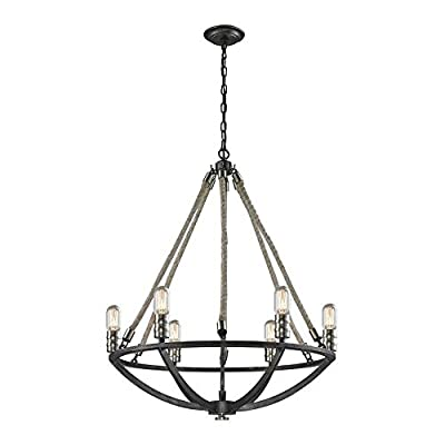 ELK Lighting 63057-6 Chandelier, Silver