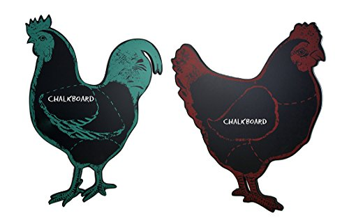 (Zeckos Clucky Chicken & Reddy Rooster Distressed Finish Hanging Chalkboard Set)