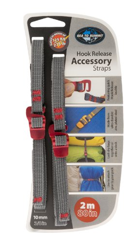 Sea to Summit 10mm Accessory Straps with Hook Release - 2 M/80 in by Sea to Summit