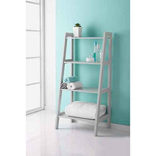 Premium Home Furniture Ladder Shelf For Extra Storage Bathroom Unit -Grey