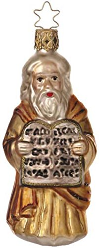 Inge-Glas Moses & The Ten Commandments German Glass Christmas Ornament #40105006