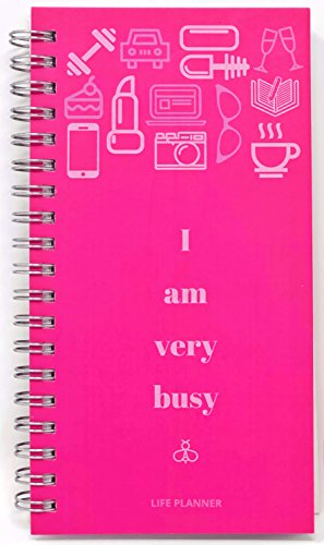2018 Weekly Daily Planner - Monthly Pocket Calendar-Wedding Book-Undated Hard Cover Personal Planner- I Am Very Busy-7X3.5 in Mini Travel Sized Datebook