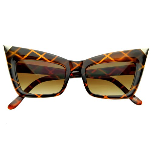 zeroUV - Super Cateye NYC Designer Inspired Fashion Cat Eye Sharp High-Pointed Sunglasses - Best Sunglasses Nyc