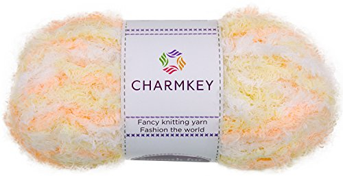 All That Jazz Velvet Hat (Charmkey Smooth Fur Yarn Super Soft Feeling 5 Bulky Fluffy Solid Colors Knitting Polyester Blended Fuzzy Nylon Luxe Yarn for Sweater Shawl Scarf Animal Toys, 2 Skeins, 3.53 Ounce Total (Candy))
