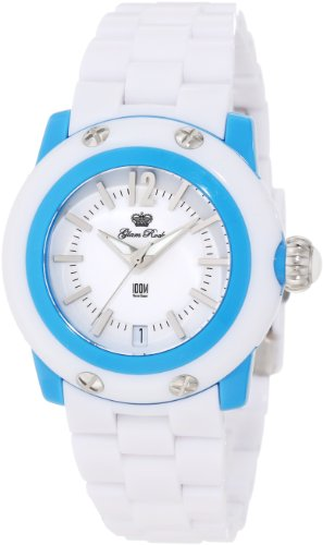 Glam Rock Women's GK4011 Miss Miami Beach Blue/White Resin Watch