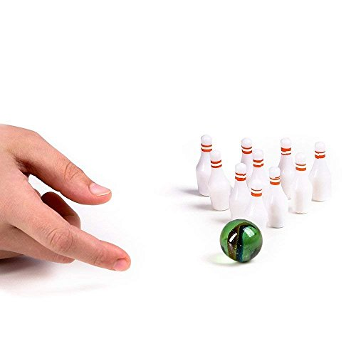 Miniature Bowling Game Set -24 Pack Deluxe - for Kids, Playing, Party, Fun, Boys, Girls, Bowlers Etc.- Kidsco by Kicko (Image #4)