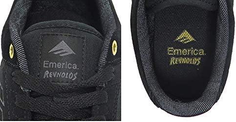 [エメリカ] SHOES シューズ スニーカー REYNOLDS LOW VULC 黒/ゴールド/白 BLACK/GOLD/WHITE スケートボード スケボー SKATEBOARD