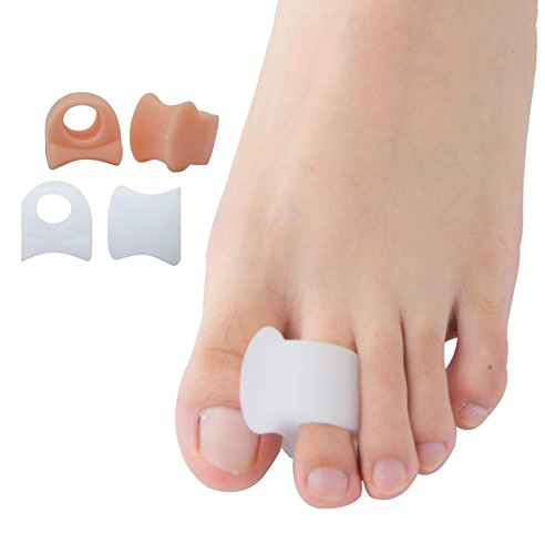 Gel Toe Separators for Bunion Corrector and Bunion Relief Toe Spacers for Men & Women 4Pcs