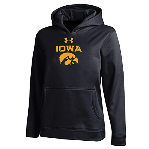 NCAA Iowa Hawkeyes Boys Fleece Hood, X-Large, Black (Hawkeye Kids)