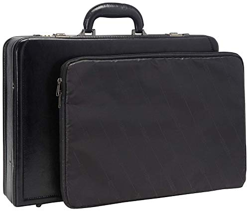 4 Inch Expandable Leather Attache - Kenneth Cole Reaction Manhattan Leather Single Compartment Expandable 17