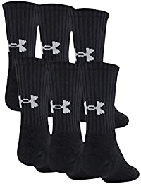 Youth Training Cotton Crew Socks, 6-Pairs