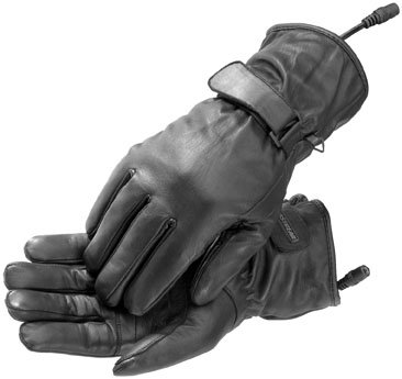 FirstGear Rider Women's Warm and Safe Heated Street Bike Motorcycle Gloves - Black / Small
