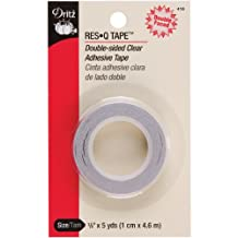 "Dritz 418 3/8"" x 5 yd Double Sided Res-Q-Tape, Clear"