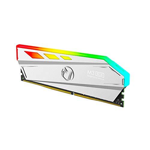 MAXSUN Vengeance M3 RGB Breathing Light RAM 8GB DDR4 2400MHz LED Desktop Memory –Platinum Silver