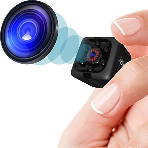 Mini Spy Camera 1080P Hidden Camera – Portable Small HD Nanny Cam with Night Vision and Motion Detection – Indoor Covert…
