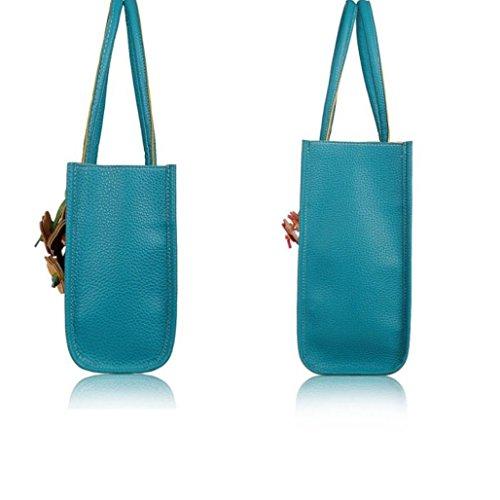 Color Girls Blue Handbags Flowers Women Fulltime Shoulder Tote Elegant Candy Bag TM Leather Fashion ZSwwTzxC