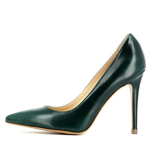 Zapatos vestir verde de oscuro Evita Alina Shoes Piel de mujer para qzwnIEnS