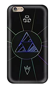 Durable Defender Case For Iphone 6 Tpu Cover(triforce Video Game)