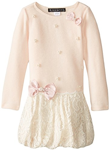 Biscotti Little Girls' Anastasia Bubble Hem Dress, Pink, 4 by Biscotti