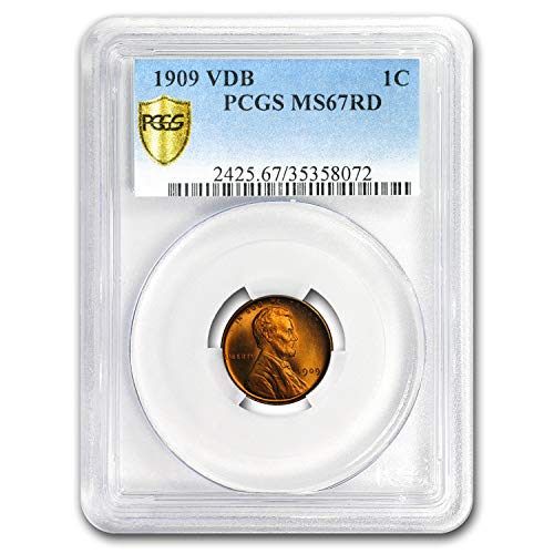 1909 VDB Lincoln Cent MS-67 PCGS (Red) Cent MS-67 PCGS