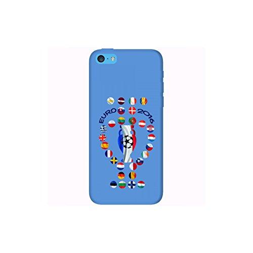 Coque Apple Iphone 5c - Euro France Football 2016