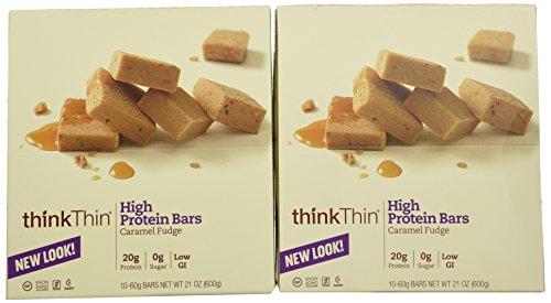 Think Thin 20 Pack (2 X Box of 10)- (Caramel Fudge)
