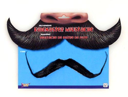 Forum Novelties Men's Jumbo Ring Master Moustache, Black, (Ringleader Costumes Men)