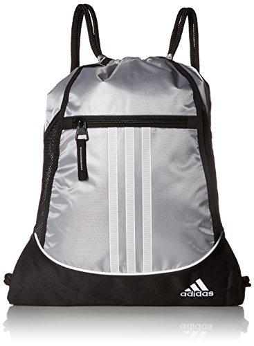 adidas Alliance II Sackpack, 18 x 13 3/4-Inch, Platinum