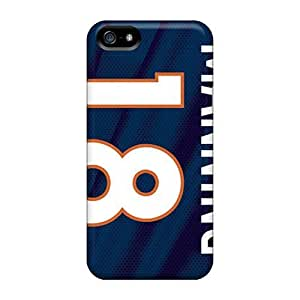 Bumper Hard Phone Covers For iphone 5c (AyI2675eYaA) Custom Colorful Denver Broncos Pattern WANGJING JINDA