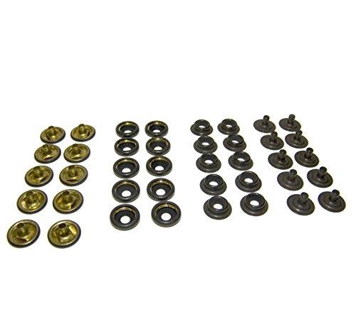 Snap Fastener's, Black Oxide Coated Brass, Line 24 Standard Size, 40 (Standard Tarp)