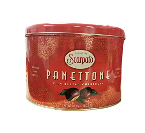 Pasticceria Scarpato Panettone with Glazed Chestnuts Holiday Fruitcake (Product of Italy) - 2 lbs 3 oz. ()