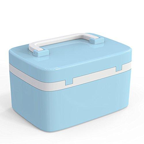 Caja de medicina con cerradura Cajas de almacenamiento Cerradura Caja de la píldora Combinación de bloqueo Viaje a mano...