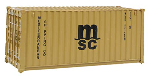 Container Intermodal - Walthers SceneMaster RS MSC BRN Container, 20'