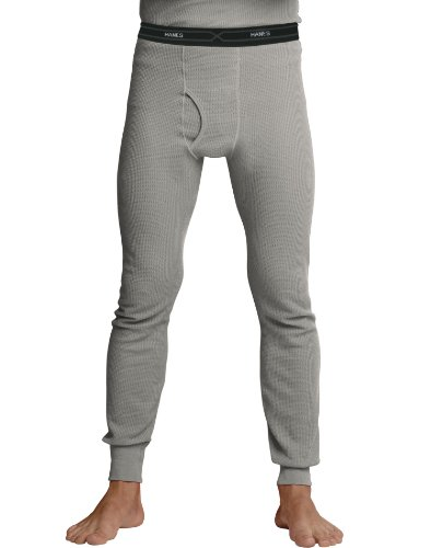 Duofold Cotton Long Underwear - Hanes Men's Big Red Label X-Temp Thermal Pant, Heather Grey, Large