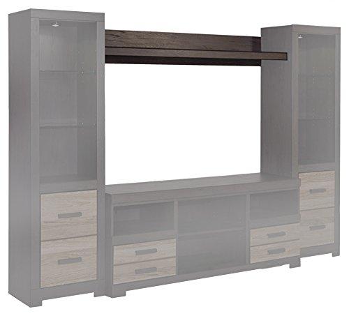 Ashley Furniture Signature Design - Harlinton Bridge Cabinet - 2 Drawers and 3 Open Cubbies - Contemporary - Warm Gray Bridge Armoire