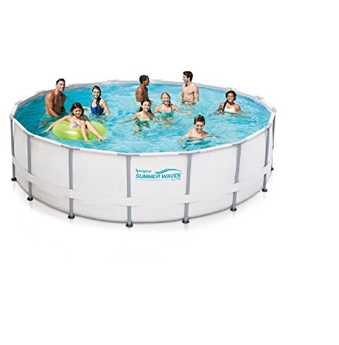 Summer Waves Elite 16' Ft. Metal Frame Above Ground Pool Set w/ SFX1500 Pump by Summer Waves