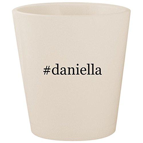 - #daniella - White Hashtag Ceramic 1.5oz Shot Glass