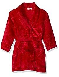 Komar Kids Big Girls' Heart Velvet Fleece Robe