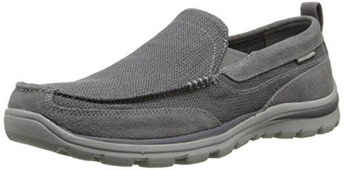 (Skechers USA Men's Superior Milford Slip-On Loafer, Charcoal/Gray, 11.5 D US)