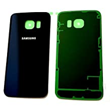Samsung Galaxy S6 Edge Back Glass Replacement Original Glass Cover |Simple Housing & Adhesive Preinstalled Part | Glass Panel Case for S6 Edge SM-G925W8, S6 SM-G925A, SMG-925V, SM-G925R4 &SM-G925F (Black Sapphire)
