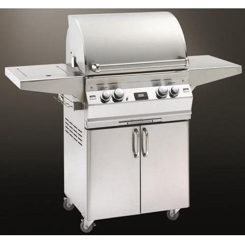 Fire Magic Aurora A430 Propane Gas Grill With Single Side Burner, One Infrared Burner And Rotisserie On Cart