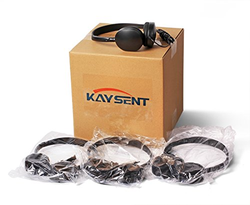 Wholesale Bulk Low Cost Earphone Earbuds Headphones – Kaysent(KHP-50) 50 Pack Wholesale Headphone for School,Airplane,Hospital,Students,Kids and Adults