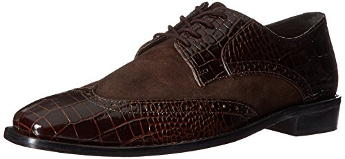 Stacy Adams Mens Arturo Leather Sole Wingtip Oxford Brown EHkL3OfmGK