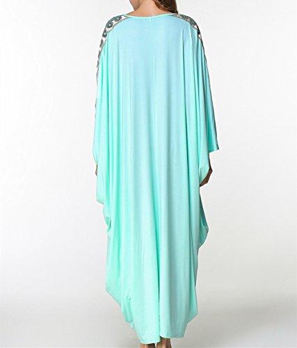 Style Mode Bleu zhxinashu Maxi Robe Jilbab Pour Robes Djellabah Conservateur Musulman Onesize Manches Longues La Femmes Abaya gaaqx574